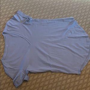 Lululemon size 2 blue grey v neck t shirt